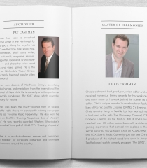 Charity Benefit & Auction Masters of Ceremony Pages
